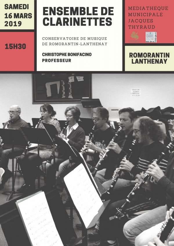 Concert ensemble de clarinettes
