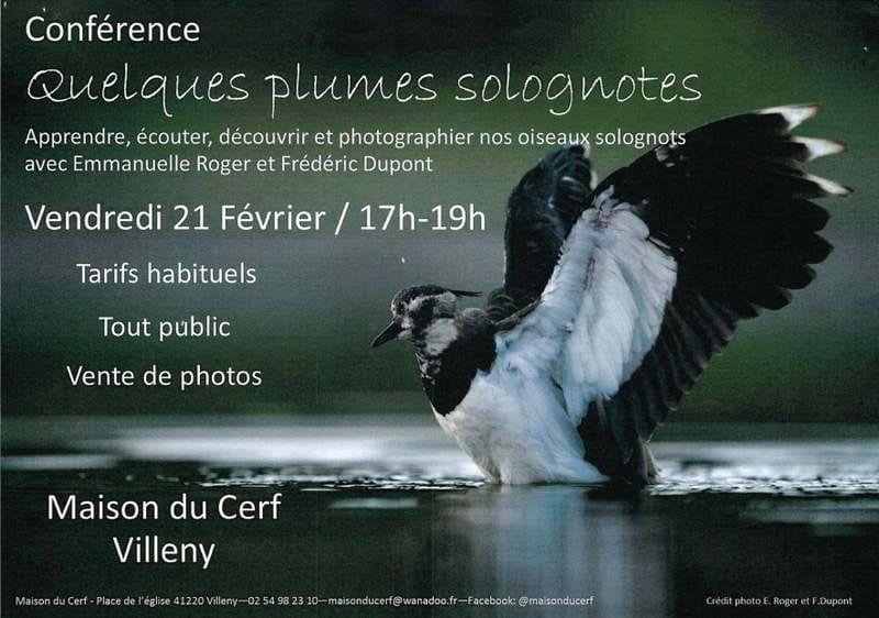 Conférence 'Quelques plumes solognotes'à Villeny