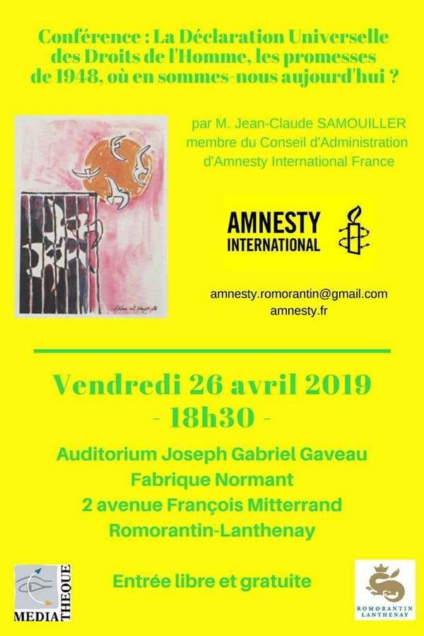 Conférence 'La Déclaration des Droits de l'homme, où en sommes-nous aujourd'hui ?'
