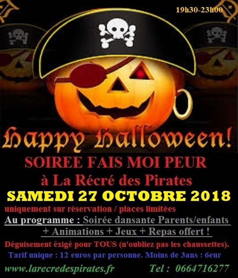 Soirée Halloween 'Fais moi peur' à la Récré des Pirates