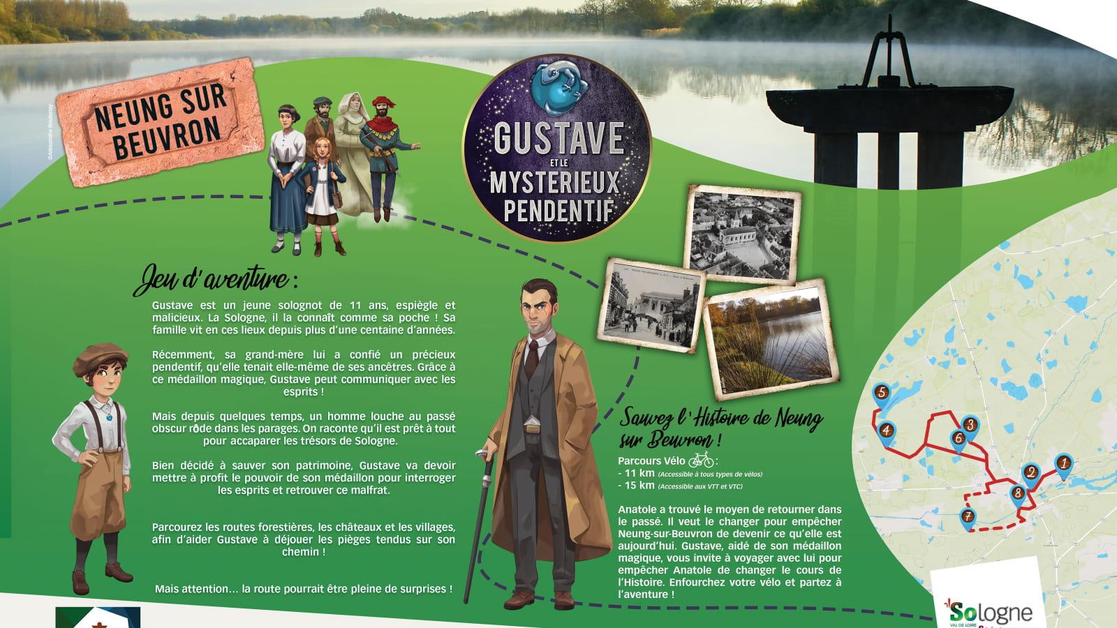Explor'Games® 'Gustave et le mystérieux pendentif' - Sauvez l'histoire de Neung-sur-Beuvron ! Parcours vélo 11 et 14 km
