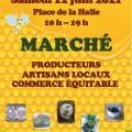 Marché des Producteurs, artisans locaux et commerce équitable