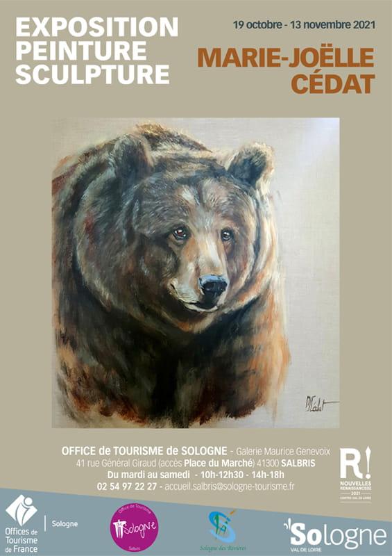 Exposition peinture et sculpture Marie-Joëlle Cédat à Salbris
