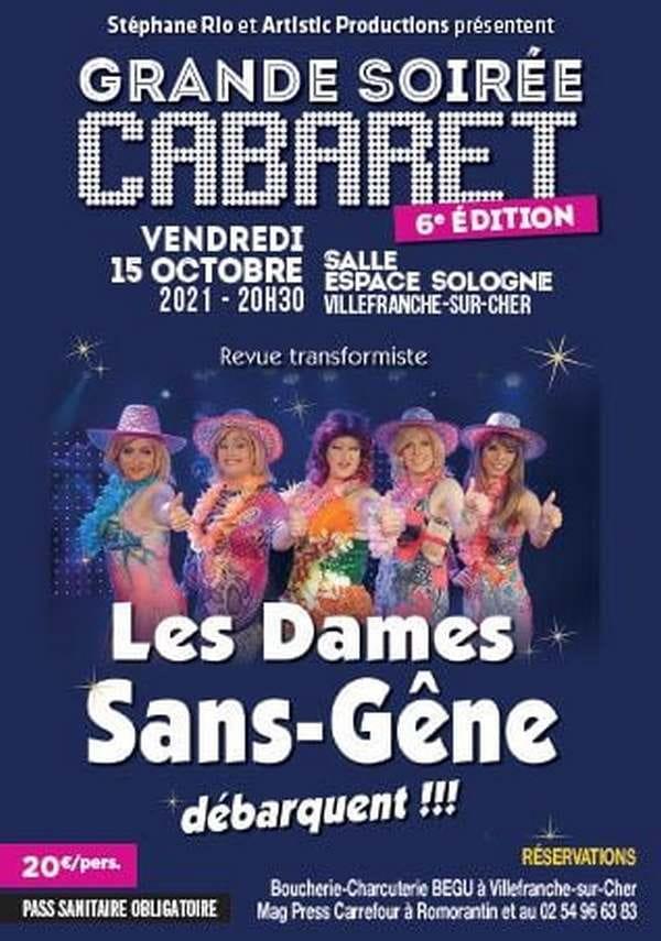 Grande soirée cabaret 'Les dames sans-gêne débarquent' à Villefranche sur Cher
