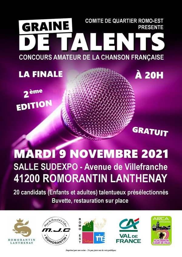 Concours amateur de chanson française 'Graine de talents'