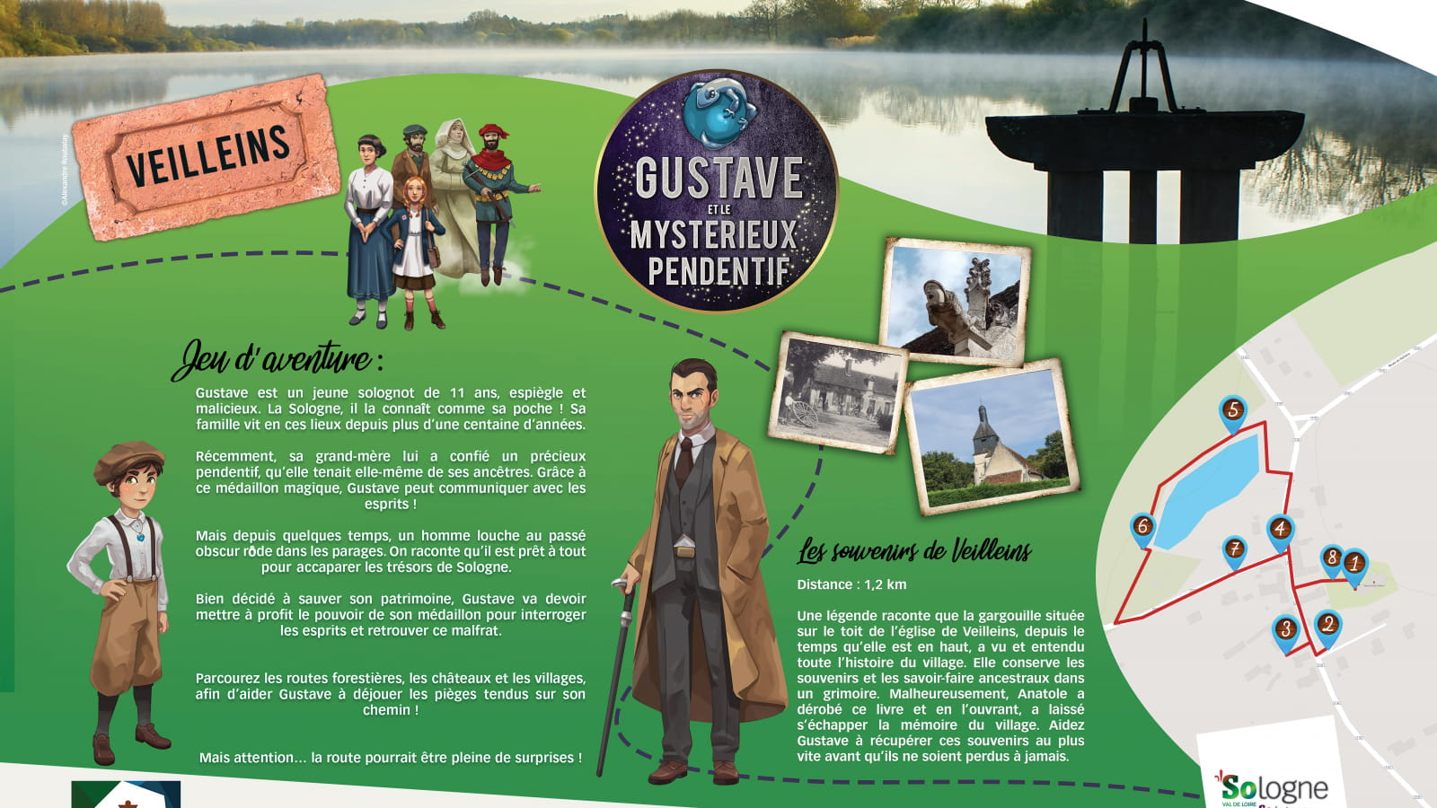 Explor'Games® 'Gustave et le mystérieux pendentif' - Les souvenirs de Veilleins - 1,2 km