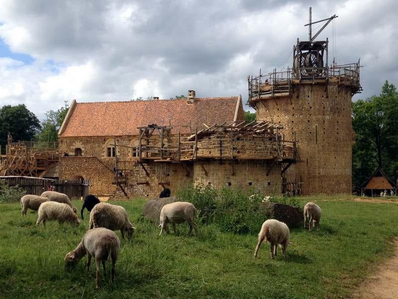 Excursion au château de Guédelon