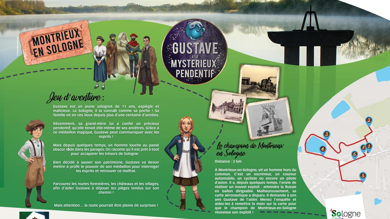 Explor'Games® 'Gustave et le mystérieux pendentif' - Le champion de Montrieux-en-Sologne - 2 km