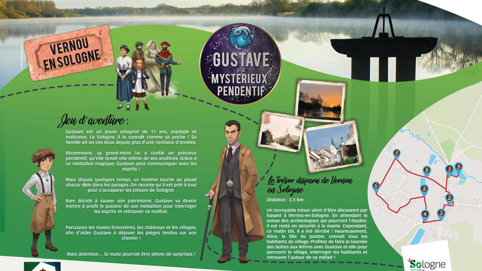 Explor'Games® 'Gustave et le mystérieux pendentif' - Le trésor disparu de Vernou-en-Sologne - 2,5 km