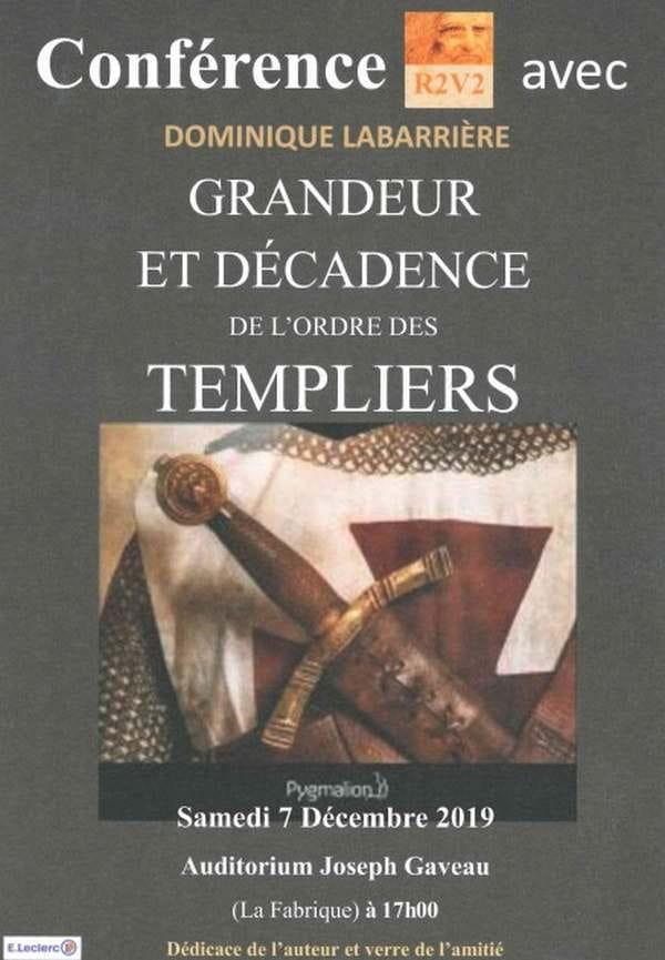 Conférence 'Grandeur et décadence de l'ordre des Templiers'