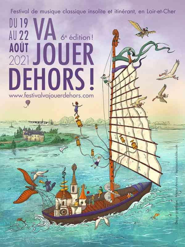 Festival Va Jouer Dehors - Concert ' Loco Cello' au château des Thermes à Saint Denis sur Loire