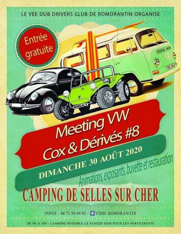 Meeting VW, Cox et dérivés #8 à Selles-sur-Cher