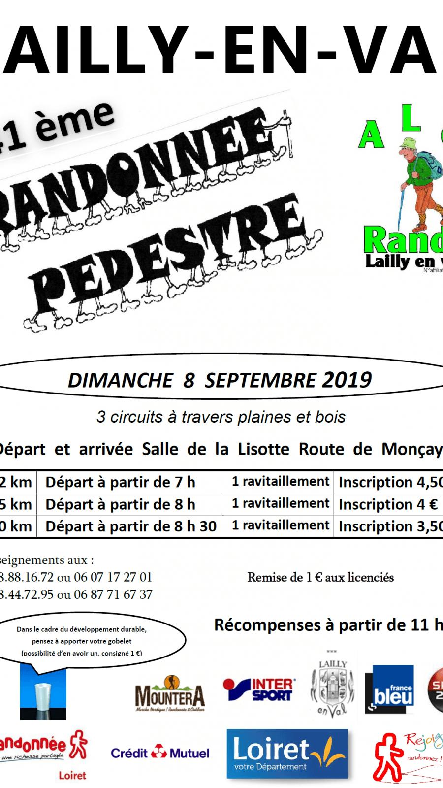 41ème randonnée pédestre de Lailly-en-Val