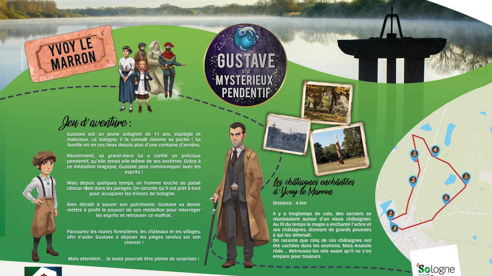 Explor'Games® 'Gustave et le mystérieux pendentif' - Les châtaignes enchantées d'Yvoy-le-Marron - 4 km