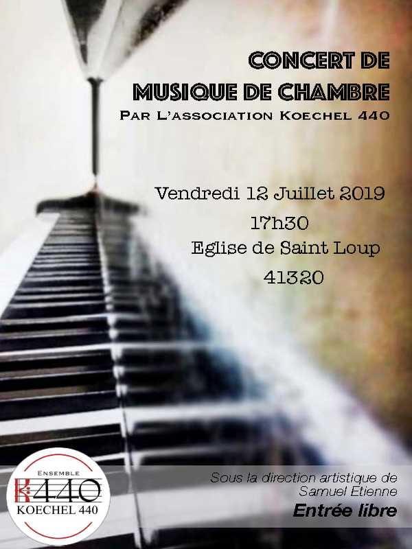 Concert de musique de chambre à Saint Loup-sur-Cher