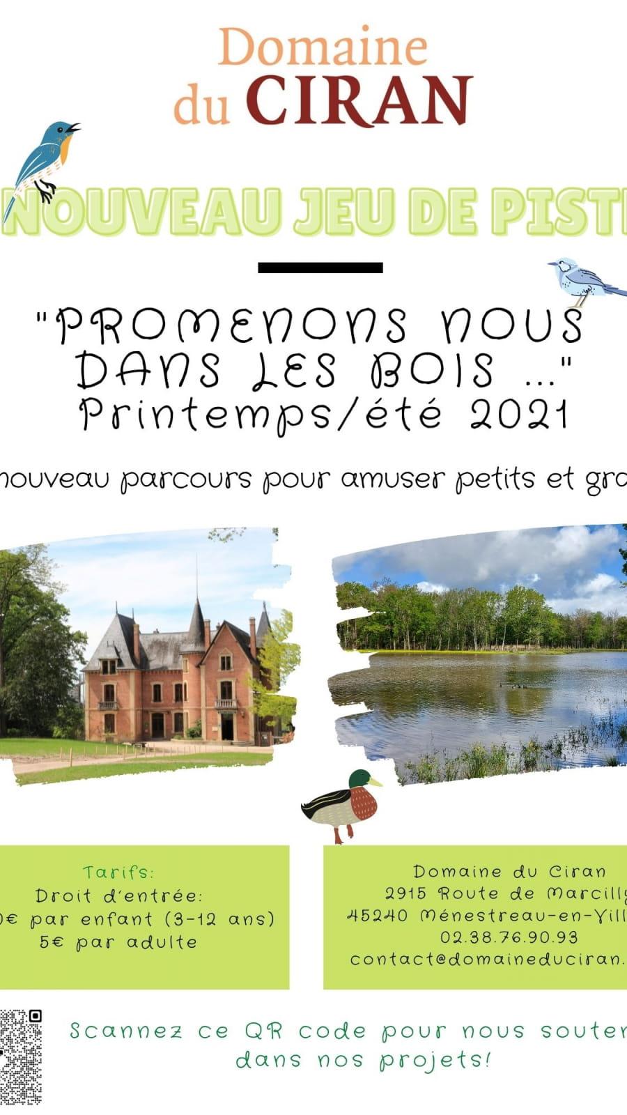 'Promenons-nous dans les bois' Grand jeu de piste nature printemps/été 2021