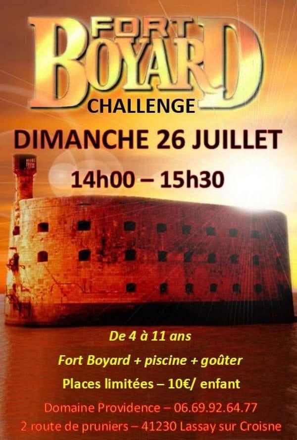 Fort Boyard Challenge - animations pour enfants