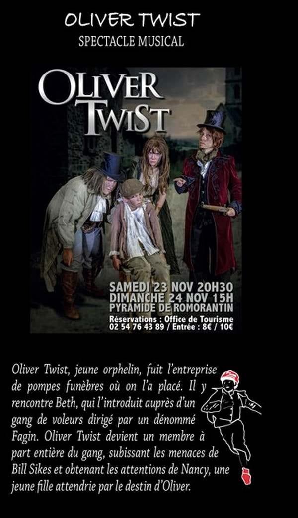 Théâtre 'Oliver Twist' à la Pyramide