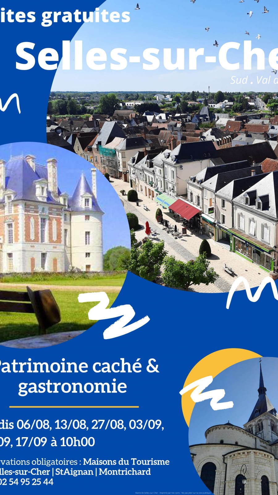 Visite commentée de la ville de Selles-sur-Cher : patrimoine caché & gastronomie