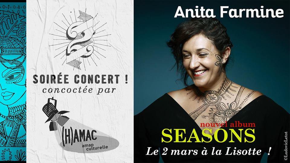 Concert d'Anita Farmine à la Lisotte