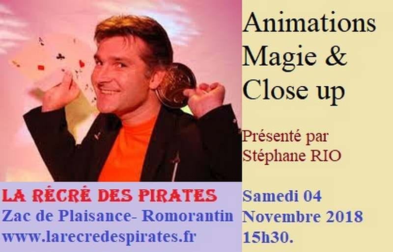 Animations magie à la Récré des Pirates