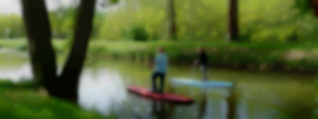 Step Paddle sur le canal