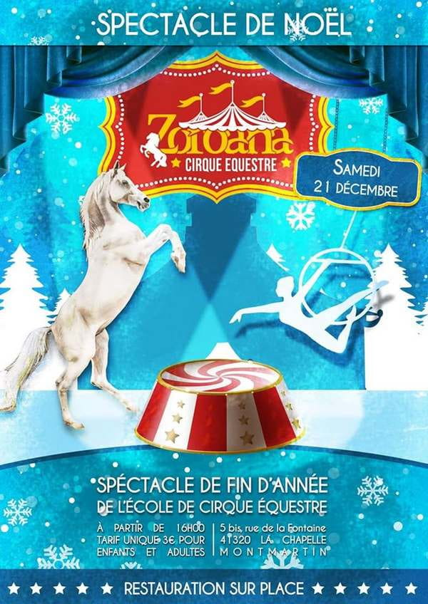 Spectacle de Noël au cirque équestre Zoroana