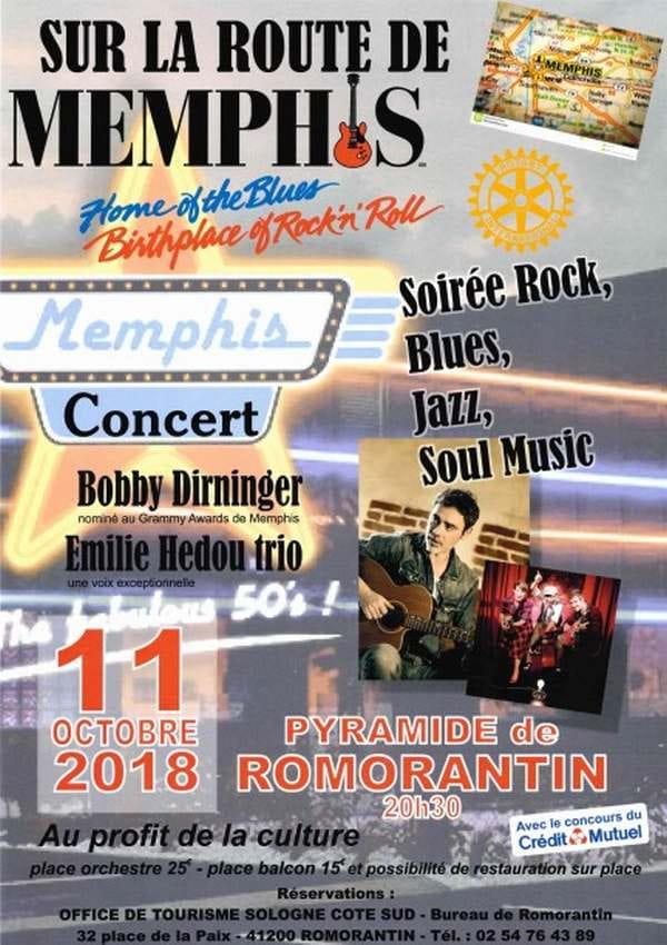 'Sur la route de Memphis' - Soirée rock, blues, jazz et soul music