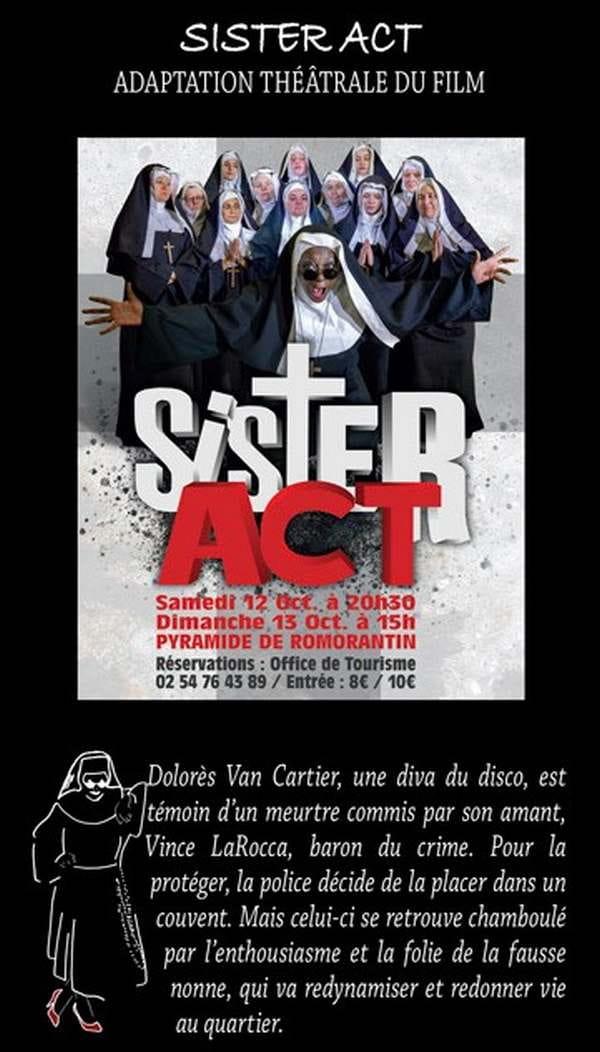 Théâtre 'Sister Act' à la Pyramide