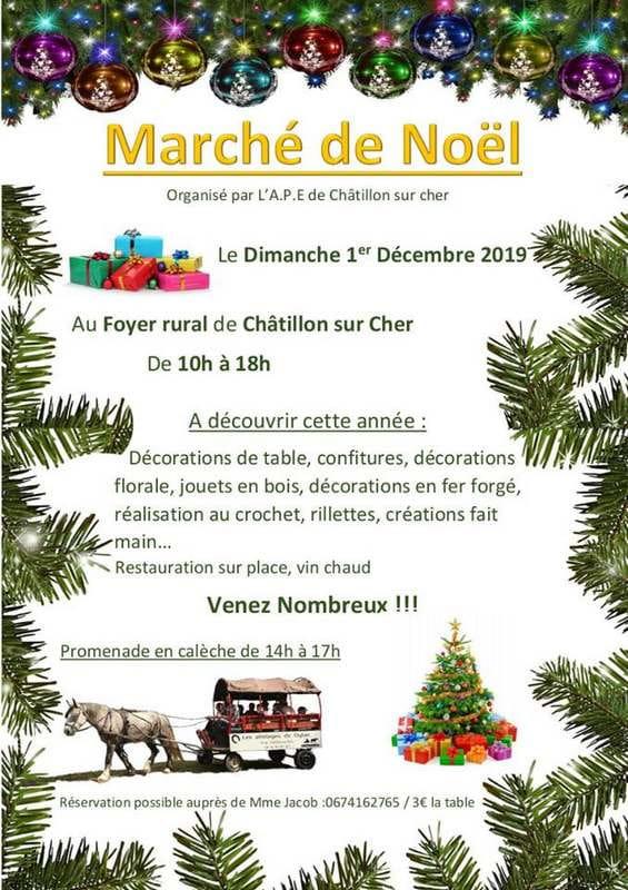 Marché de Noël à Châtillon-sur-Cher