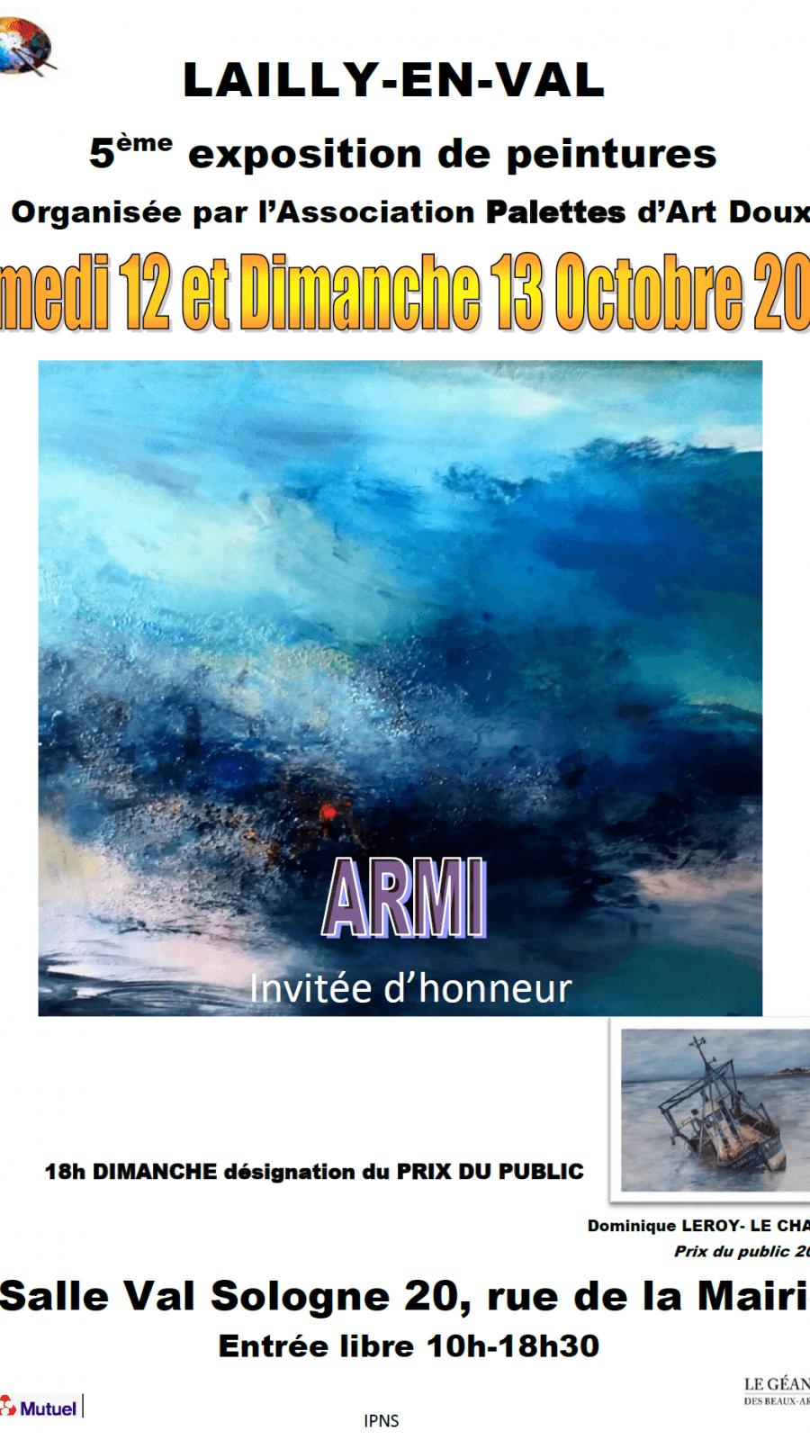 Exposition de peintures de l'association Palettes d'art doux