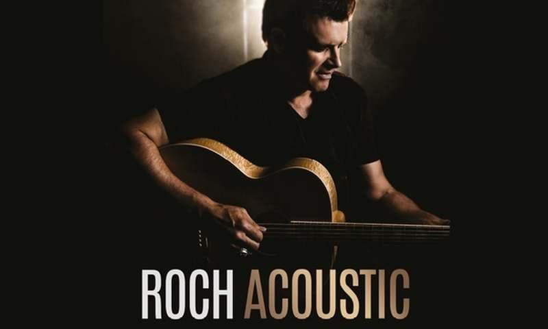 Concert de Roch Voisine 'Roch acoustic'à la Pyramide